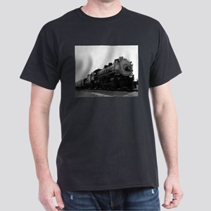 Black and White Steam Engine Dark T-Shirt