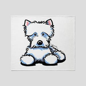 Cute Westie Throw Blanket