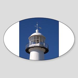 Biloxi Lighthouse Sticker (Oval)