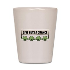 Give Peas A Chance Shot Glass