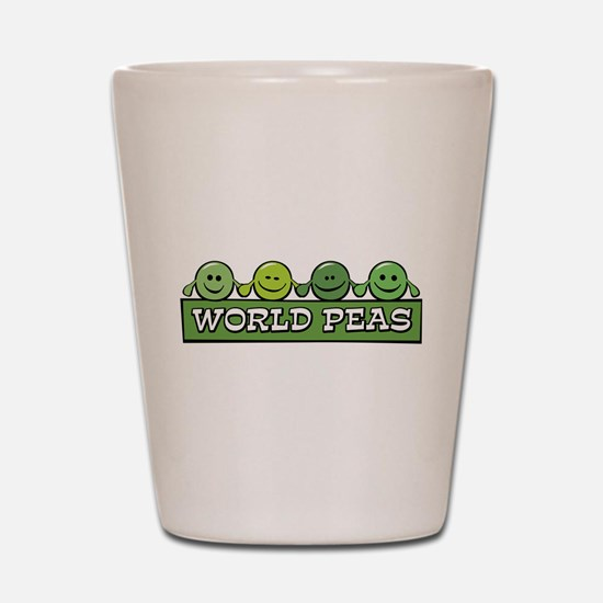 World Peas Shot Glass