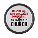 Gym is my Church Large Wall Clock