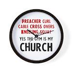 Gym is my Church Wall Clock