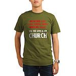 Gym is my Church Organic Men's T-Shirt (dark)