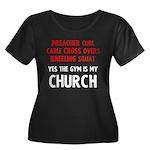 Gym is my Church Women's Plus Size Scoop Neck Dark