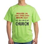 Gym is my Church Green T-Shirt