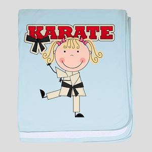 Blond Girl Karate Kid baby blanket