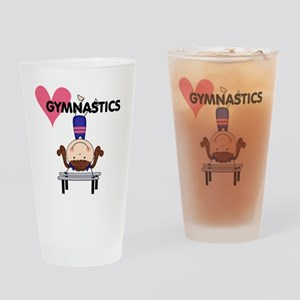Girl Gymnast Handstands Pint Glass