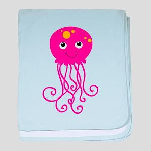 Pink Jellyfish baby blanket
