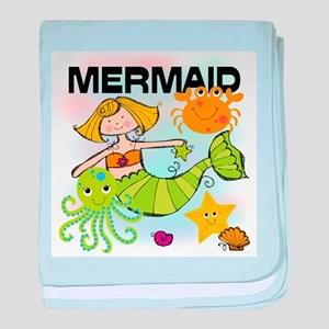 Blond Mermaid baby blanket