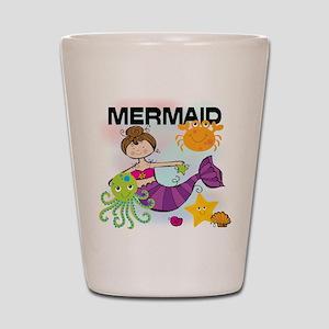 Brunette Mermaid Shot Glass