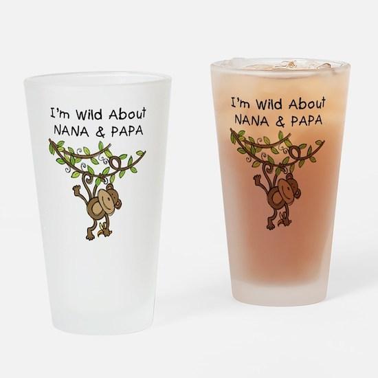 Wild About Nana & Papa Pint Glass