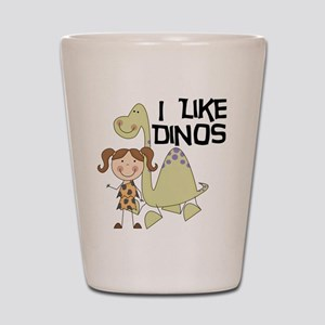 Girl I Like Dinos Shot Glass