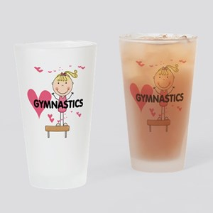 Blond Girl Gymnast Pint Glass