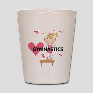 Blond Girl Gymnast Shot Glass