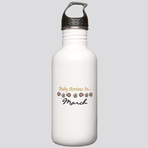 Baby Arrives in March Stainless Water Bottle 1.0L