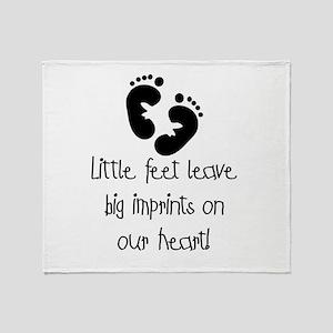 Baby Footprints Throw Blanket