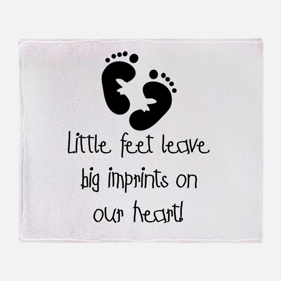 Baby Footprints Throw Blanket