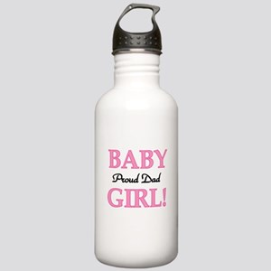 Baby Girl Proud Dad Stainless Water Bottle 1.0L