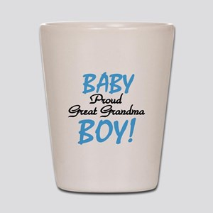 Baby Boy Great Grandma Shot Glass