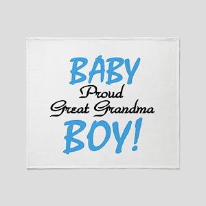 Baby Boy Great Grandma Throw Blanket