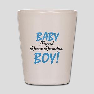 Baby Boy Great Grandpa Shot Glass