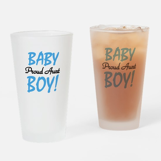 Baby Boy Proud Aunt Pint Glass