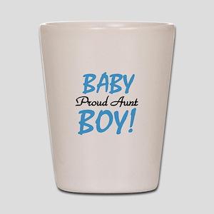 Baby Boy Proud Aunt Shot Glass