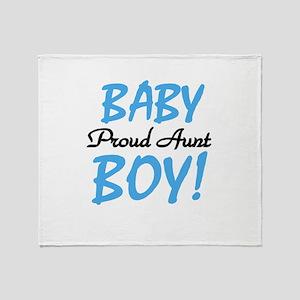 Baby Boy Proud Aunt Throw Blanket