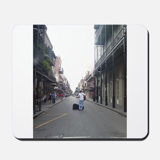 French Quarter Musician Mousepad