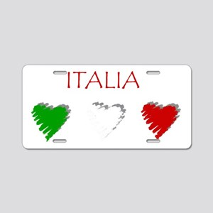 Italia Aluminum License Plate
