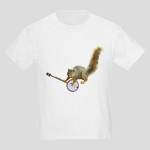 Squirrel with Banjo Kids Light T-Shirt