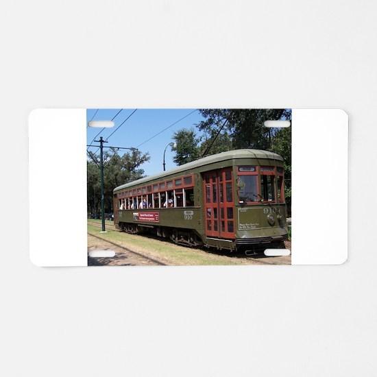 New Orleans Streetcar Aluminum License Plate