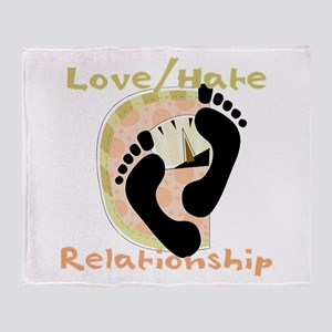 Love Hate Relationship Throw Blanket