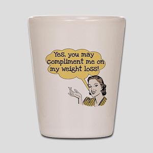 Compliment Weight Loss Shot Glass