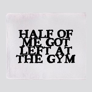 Half of Me Fitness Throw Blanket