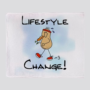 Peanut Lifestyle Change Throw Blanket