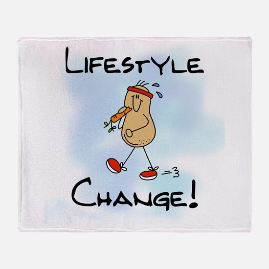 Peanut Lifestyle Change Throw Blanket