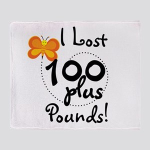 I Lost 100 Plus Pounds Throw Blanket
