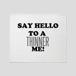 Thinner Me Dieter Throw Blanket