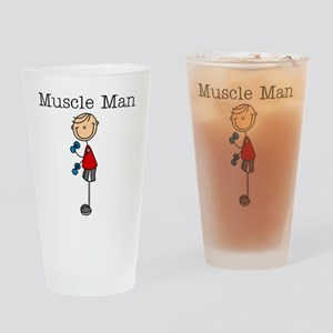 Muscle Man Drinking Glass
