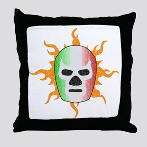 Mexican Lucha Libre Mask Throw Pillow