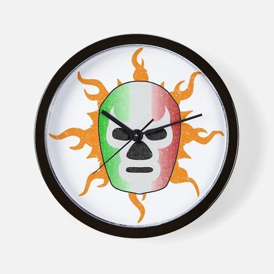 Mexican Lucha Libre Mask Wall Clock