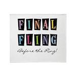 Final Fling Bright Colors Throw Blanket
