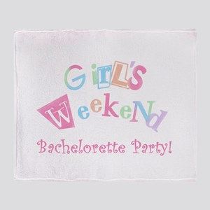 Girl's Weekend Throw Blanket