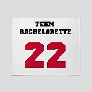 Team Bachelorette 17 Red Throw Blanket