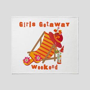 Girls Getaway Weekend Throw Blanket