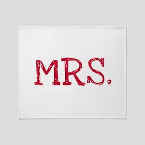 MRS. Throw Blanket