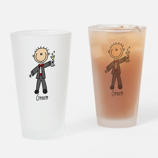 Stick Figure Groom Pint Glass