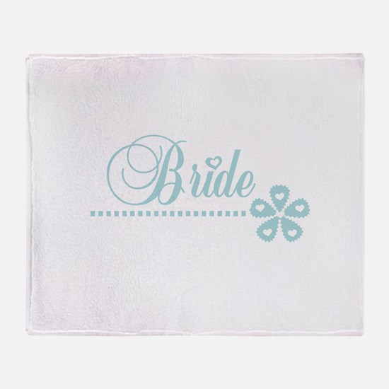 Bride Elegance Throw Blanket